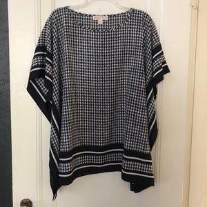 MICHAEL Michael Kors Houndstooth blouse/tunic